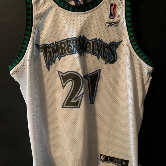 official photos 3c1cd b0288 Reebok Authentic Kevin Garnett Timberwolves Jersey